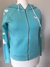 PINK By Victorias Secret Bright Mint Green Zip Up Hoodie Sweatshirt Size Small