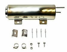 """3/"""" x10/"""" Stainless Radiator Coolant Overflow Tank Reservoirs Twist In Cap SBCBBC"""