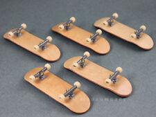 Lot 5Pcs Fingerboard Skateboards Bearing Wheels Wooden Deck sport figure kid toy