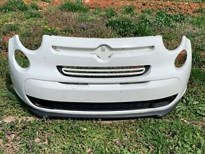 2014-2017 Fiat 500L 4 Door Front Bumper COMPLETE Upper Lower Grille GENUINE OEM