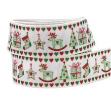 Printed Christmas Ribbons Single Face For Home Decorations Accessories Materials