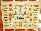 NAUTICAL CHART~38 Labeled 3D Knots-Accessories-Cutty Sark~Canvas Back~Dowel Rods