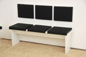 Klemmkissen Sitzkissen 40 cm Klemmtiefe Kunst-Leder braun schwarz oder beige