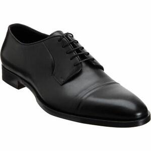 $695 Ralph Lauren Purple Label Mens Gittens Soft Calf Leather Black Dress Shoes