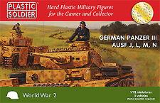 Plastic Soldier 1/72 Alemán Panzer III Ausf J, L, M, N - 3 Kits # WW2V20018