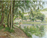 MORET CANAL DU LOING 1902 BY PISSARRO ARTIST PAINTING REPRODUCTION HANDMADE OIL