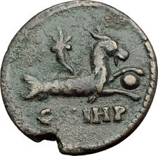 MACRINUS 217AD Parium Parion MYSIA Authentic Ancient Roman Coin CAPRICORN i64767