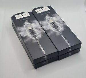 4x USB Schnell Laden Daten Lightning Kabel Schwarz Nylon 1 Meter für iPhone