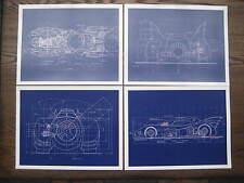 "Batman Movie - Batmobile Blue Prints Each one 11"" x 14-3/4"" [ Set of 4 ]"