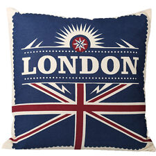 40CM LONDON CUSHION UNION JACK 100% COTTON PILLOW BED SOFA COVER RETRO THROW NEW