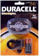 DURACELL WATER RESISTANT BIKE FRONT LED LIGHTS W/ 2 LIGHTING FUNCTIONS