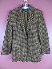 CJ0447- RALPH LAUREN Woman Wool Alpaca Thick Warm Blazer Jacket Brown Tan Geo 10