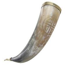 Medieval Viking Drinking Horn Shield Knot Vessel Handmade Beer Ceremonial Mug