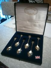 Prince Charles and Princess Diana 1981 wedding 6 silver plate spoons set.
