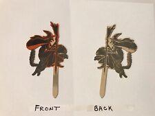 Vintage Halloween Dennison Witch & Cat Flying Die Cut Pick Cupcake Topper 1920