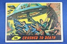1962 Topps Bubbles - Mars Attacks - #20 Crushed To Death - Excellent. Condition