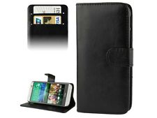 BLACK WALLET PU Leather STAND Case Phone Cover for HTC ONE M8 UK FREE DISPATCH