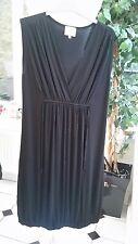 Masai Black Stretchy Jersey Dress Sleeveless Size 12-14 M Medium Boho Hippy