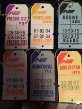 VINTAGE NORTHEAST AIRLINES BAG TAGS SET OF 6