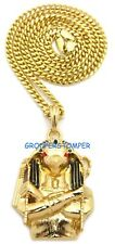 Anubis New Egyptian Protector God Pendant Necklace with 24 Inch Cuban Chain