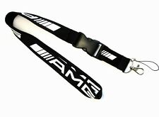 New Black Car Logo Neck Strap Lanyard Keyring Key Chains Cellphone For Benz AMG