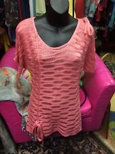 Peach Crochet Top Tops Tunic Tunics Micro Mini Funky People M Med