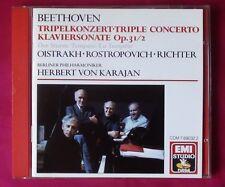 Oistrakh Rostropovich Richter Karajan Beethoven Triple Concerto EMI CDM-7690322