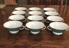 "Franciscan ""Palomar Jade"" Beautiful Vintage Set Of 12 Cream/Soup Bowls"