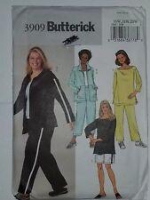 Tracksuit 3909 Butterick Sewing Pattern 16W 18W 20W Sweatsuit Velour Pants UC FF