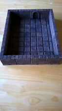 Dungeon Room Wall and Floor Terrain Locking Resin Tiles Painted