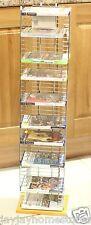 Sol autoportante dvd stockage rack/- bois et argent