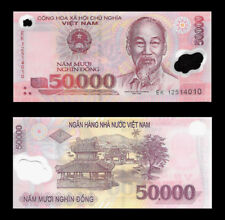 Vietnam 50000 Dong Polymer Note UNC. Vietnamese Money  Lot Of 1  Collectible