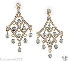 A Wow Gift & Rare Find! Joan Rivers Elegant Evening Chandelier Crystal Earrings~