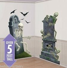 Scary Halloween Scene Setter Add On - Graveyard Raiders Skeleton Cemetary