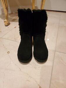 Women's Bearpaw Donatella Winter Boots- Black, US Size 6