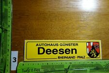 Alter Aufkleber Automobil Autohaus Werkstatt GÜNSTER Stadt Deesen