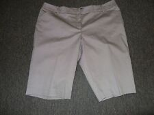 WOMENS SIZE 18 BLACK DOT BERMUDA STYLE SHORTS BY 7TH AVENUE **NWT**