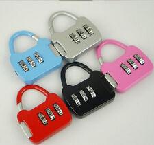 3 Digit Combination Luggage Code Lock Password Padlock ab