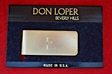 """New Don Loper Beverly Hills Solid Brass Money Clip Large """"E"""""""