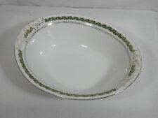 Antique Vintage Imperial Crown China Austria Oval Vegetable Gold Green Leaf