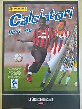 LA RACCOLTA COMPLETA DEGLI ALBUM PANINI CALCIATORI 1995-96 GAZZETTA DELLO SPORT