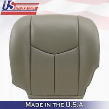 2003 - 06 Chevy Tahoe Suburban GMC Yukon Driver Bottom Leather Seat Cover Gray