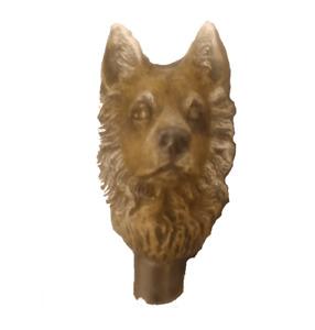Alsation/German Shepherd//Walking stick handle/cane handle/decorative