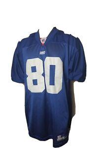 Jeremy Shockey New York Giants Jersey Blue Stitched Size 50 Reebok NFL On Field