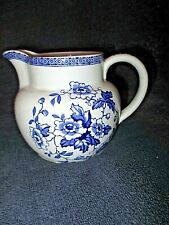 ancien broc en porcelaine-pichet bleu-Windsor-W.R.Midwinter Ltd-made in England