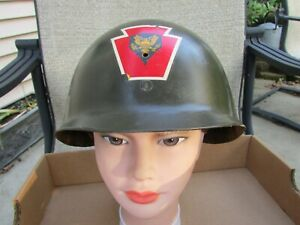 Nice US Army 28th Division Helmet's Liner with Decals
