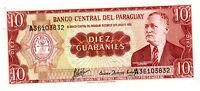 Paraguay … P-196b … 10 Guaranies … L.1952 … *CHOICE-UNC*