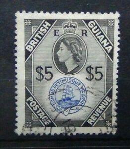 British Guiana 1954 - 63 $5 Fine Used