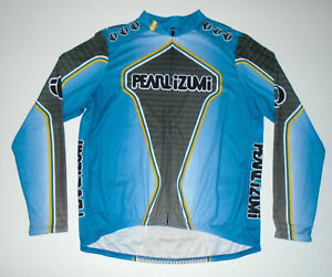 PEARL IZUMI Cycling Jersey BLUE & GRAY Vtg Spring 2005 Long Sleeve Mens XL