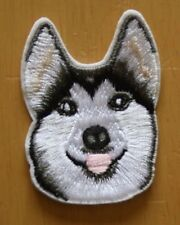 Husky Alsatian Embroidered Iron Sew On Patch Applique Badge Dog Wolf